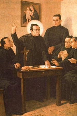 Padre Claret com os Co-fundadores da Congregação, cujo original está na Cúria Geral de Roma