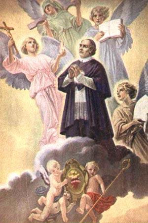 Painel pintado por Giovanni B. Conti, por ocasião da Canonização de Claret, 1950, está em Roma.