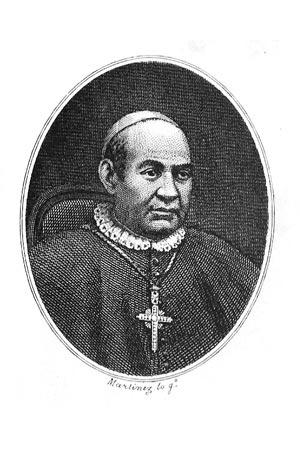 Gravura do Padre Claret feita em Madrid