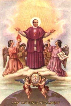 Quadro da Beatificação do Claret, de Giovanni B. Conti, cujo original está em Roma na Cúria Geral