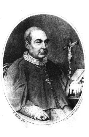 Litografia do Santo, feita por B. Blanco, em Madri e reproduzida na Vida de Claret, escrita por F. Aguilar
