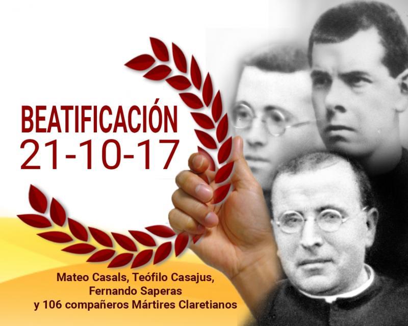 Beatificação de 109 Mártires Claretianos