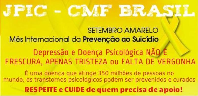 Claretianos do Brasil participam do Setembro Amarelo
