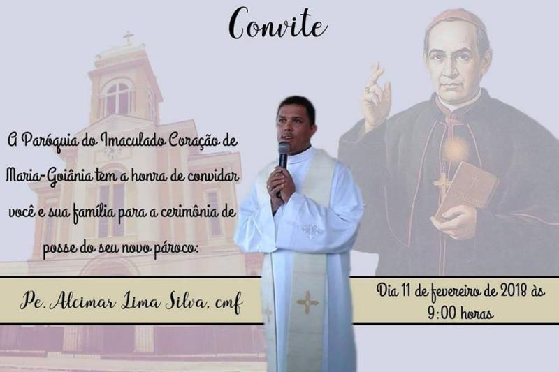 Convite para início do ministério do P. Alcimar