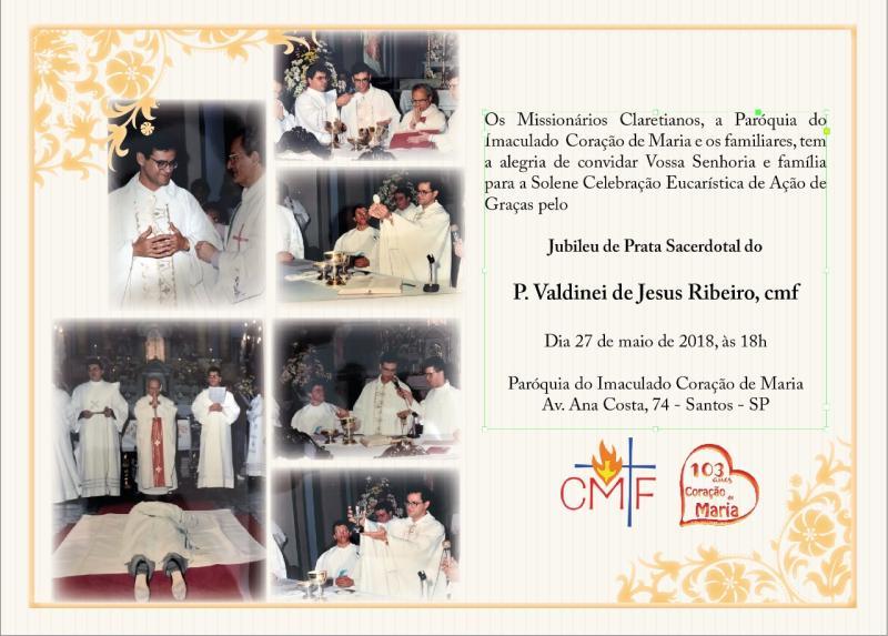 Jubileu de Prata Sacerdotal do P. Valdinei de Jesus Ribeiro, cmf