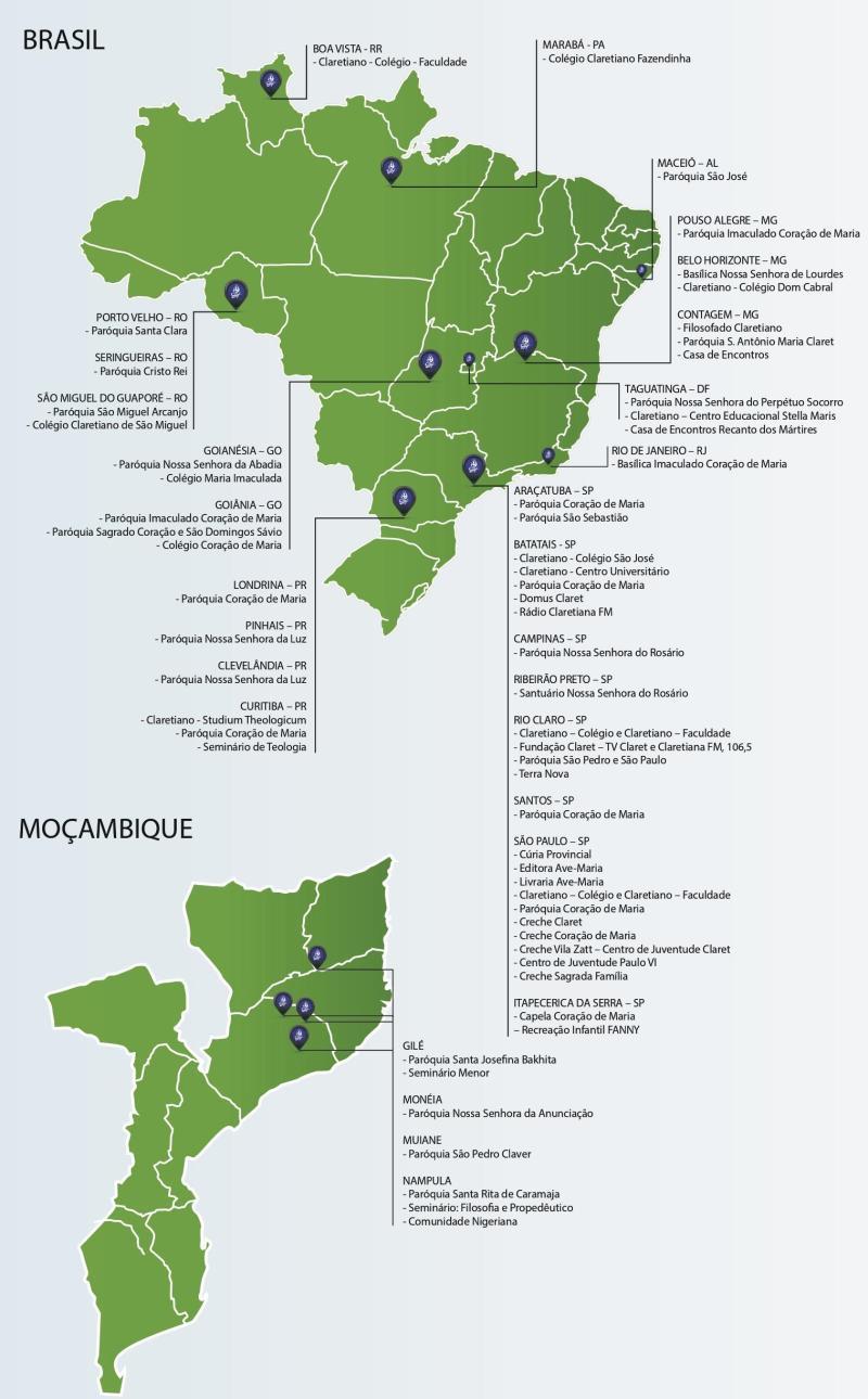Presença Claretiana no Brasil e em Moçambique