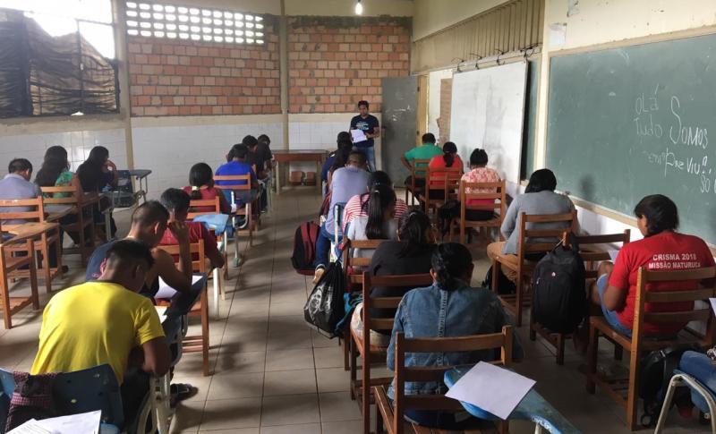 Claretiano: mais de 100 indígenas participam do vestibular para Pedagogia em Uiramutã, RR