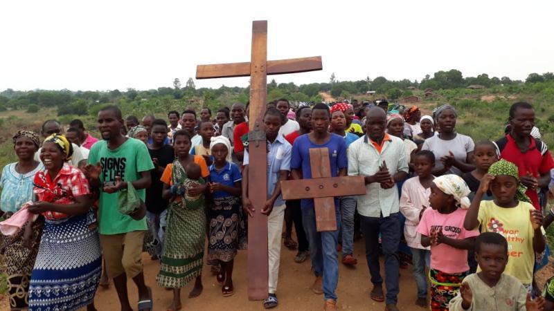 Cruz Peregrina dos Jovens - Paróquia de Muiane (Missão Moçambique)