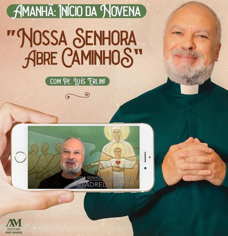 P. Luis Erlin inicia novena Nossa Senhora Abre Caminhos