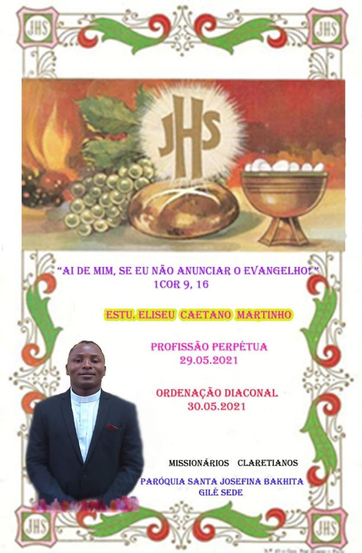 Ordenação Diaconal do primeiro Missionário Claretiano de Moçambique