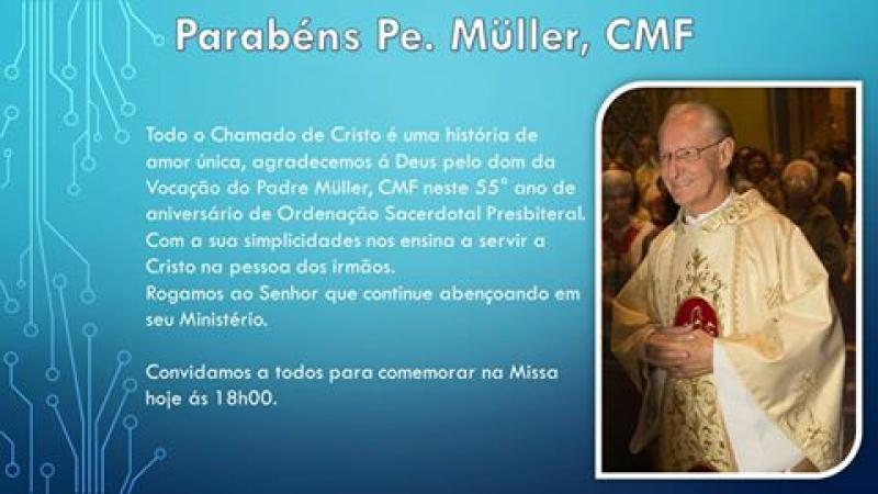 55 anos de Sacerd�cio do P. M�ller